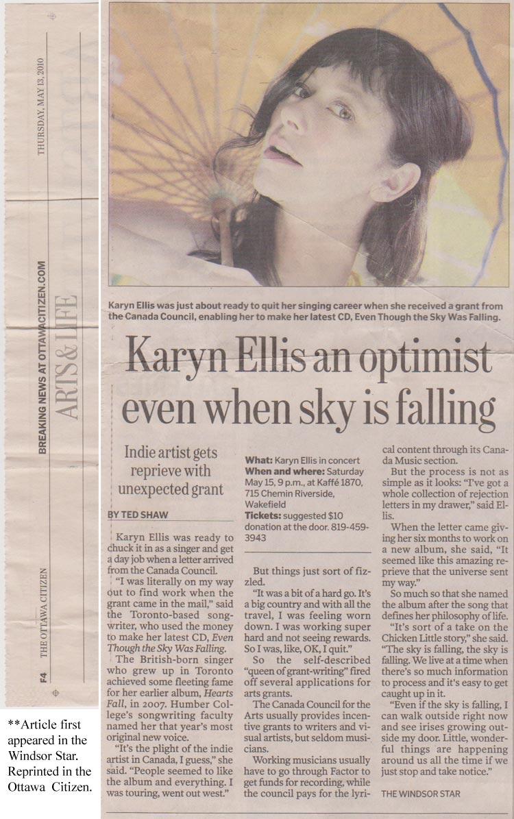 Feature Article: Ottawa Citizen, May 13 2010